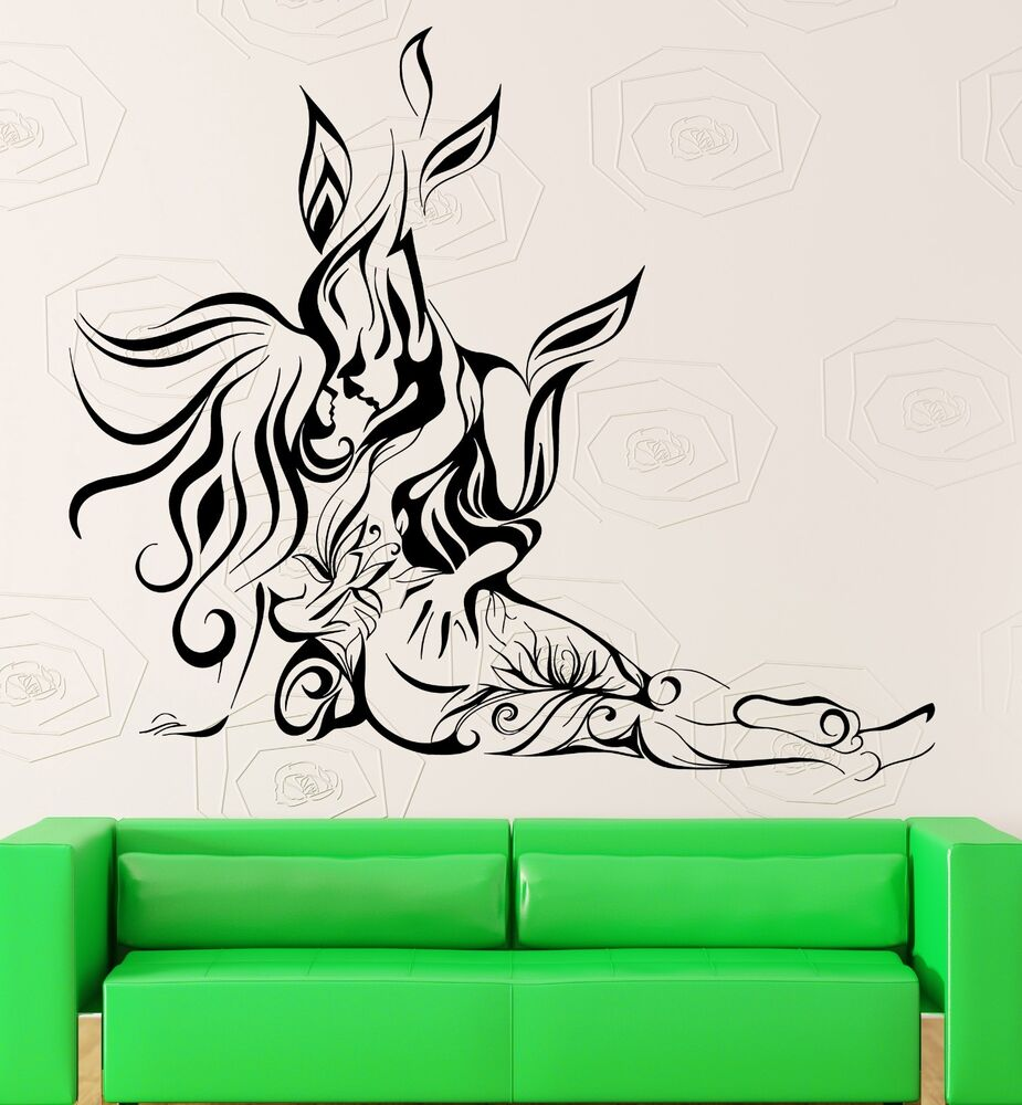 wall sticker vinyl decal abstract loving couple bedroom