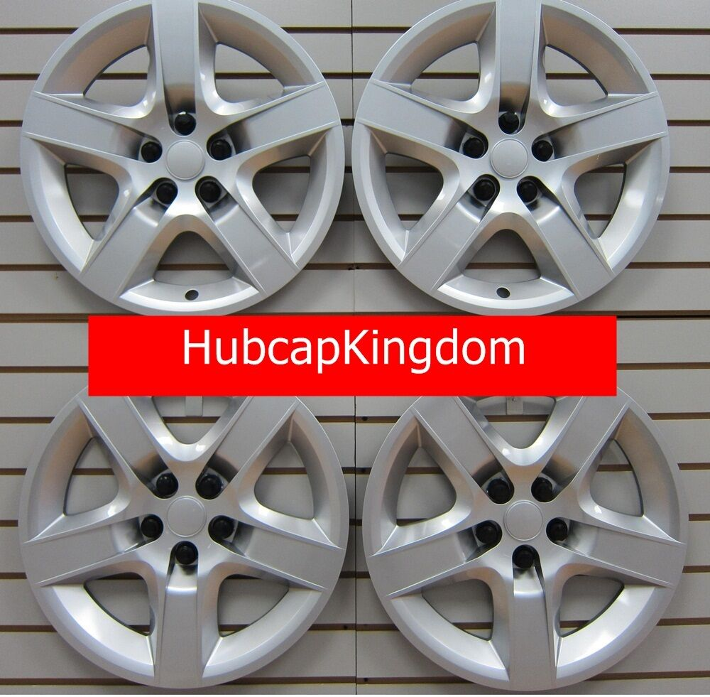 new 2008 2010 chevy malibu hubcap wheelcover set silver ebay. Black Bedroom Furniture Sets. Home Design Ideas
