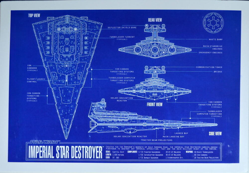 Imperial Star Destroyer Blueprints 4