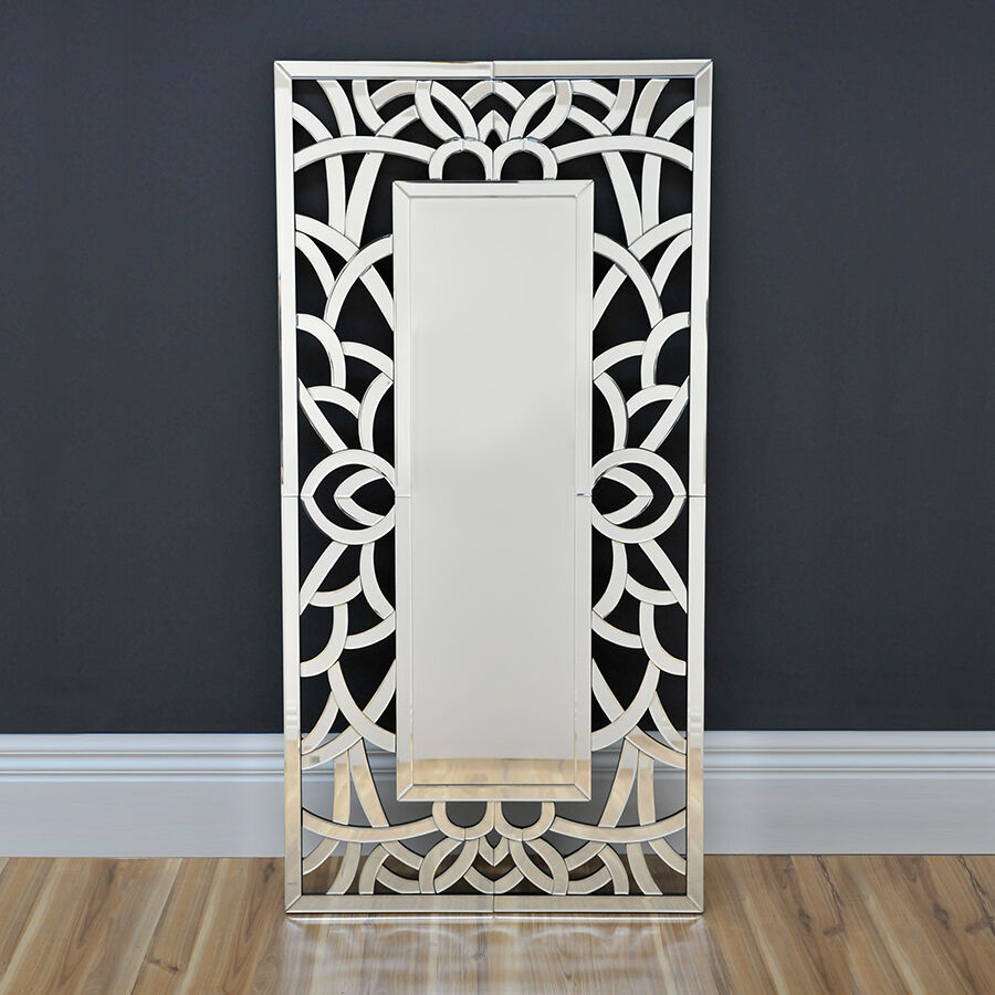 Lavish art deco mirror modern wall mirror floor mirror for Modern mirrored wall art