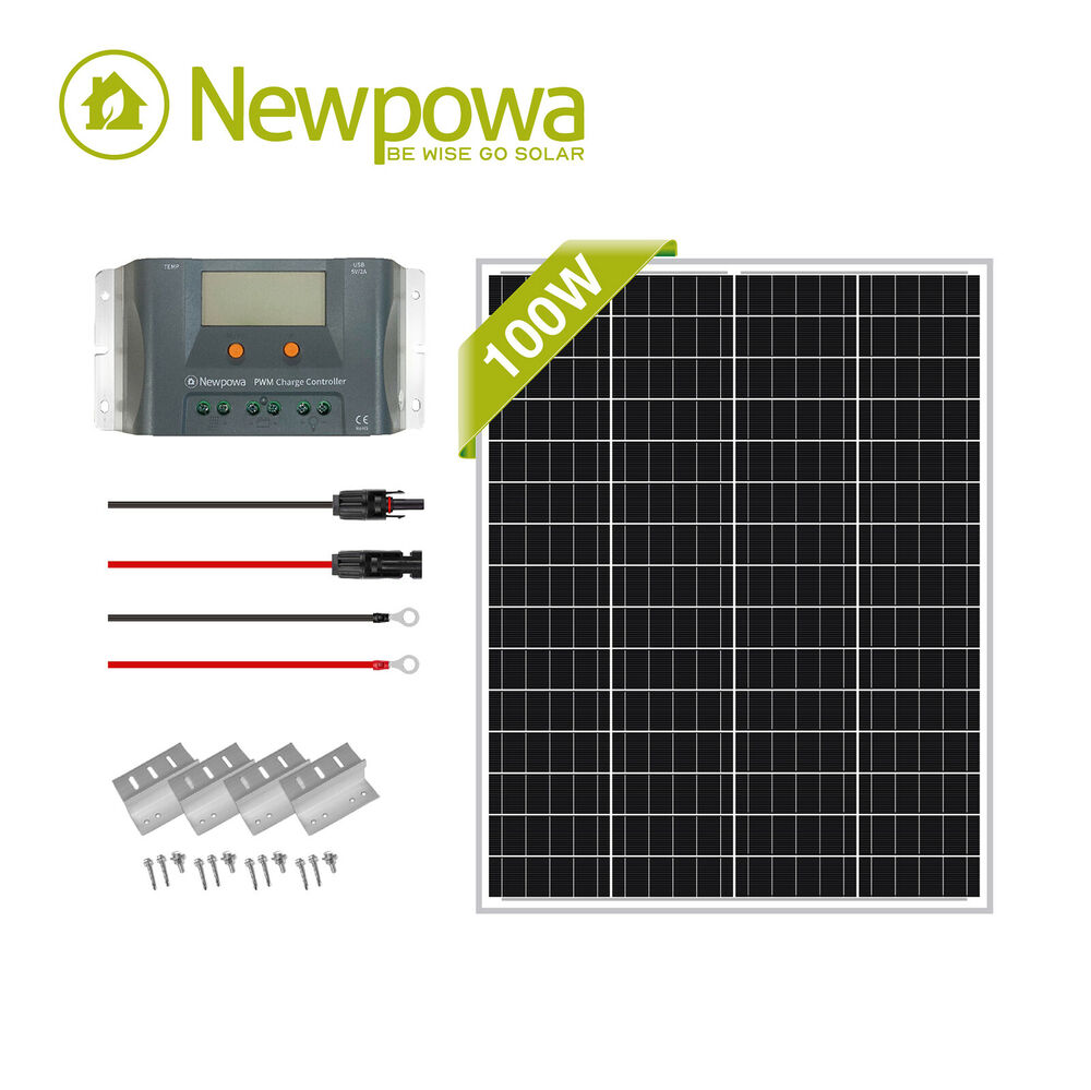 Rv Solar Battery Charger System : Newpowa solar panel watt w v pv off grid kit rv