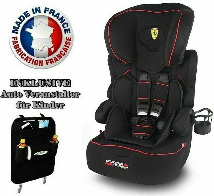 ferrari auto kindersitz 9 36kg beline gt limited gruppe i ii iii modell 2017 ebay. Black Bedroom Furniture Sets. Home Design Ideas