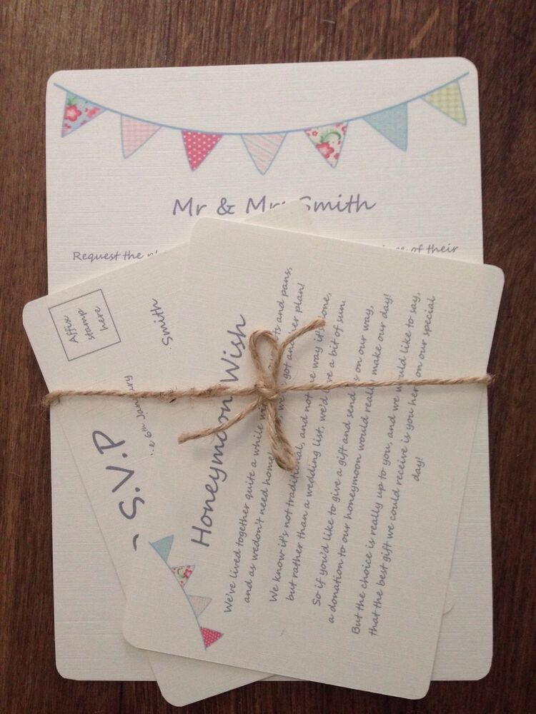 personalised wedding day evening invitations rsvp card set with