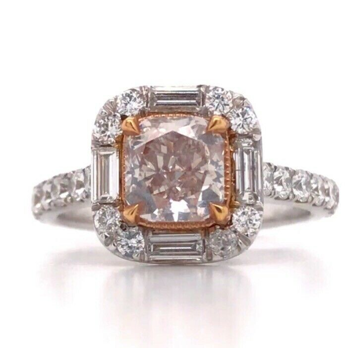 2 30 CARAT GIA CERTIFIED NATURAL LIGHT PINKISH BROWN DIAMOND ENGAGEMENT RING