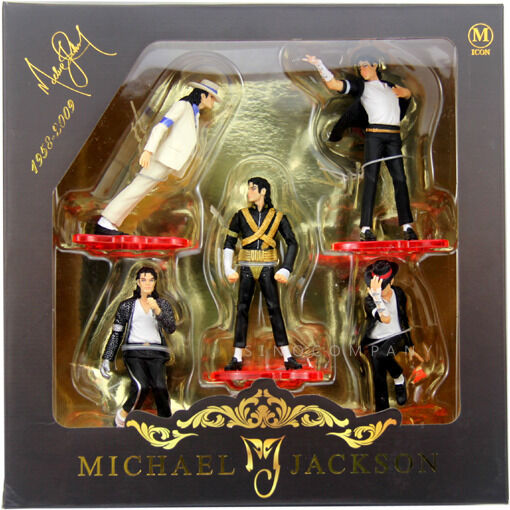 Xmas gift 5 set of king of pop michael jackson figures for Three jackson toy