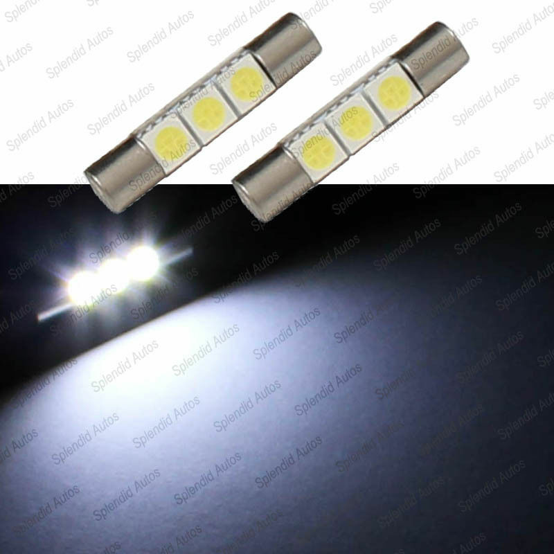 2X Xenon White 3-SMD LED Bulbs For Chevrolet Car Sun Visor Vanity Mirror Lights eBay