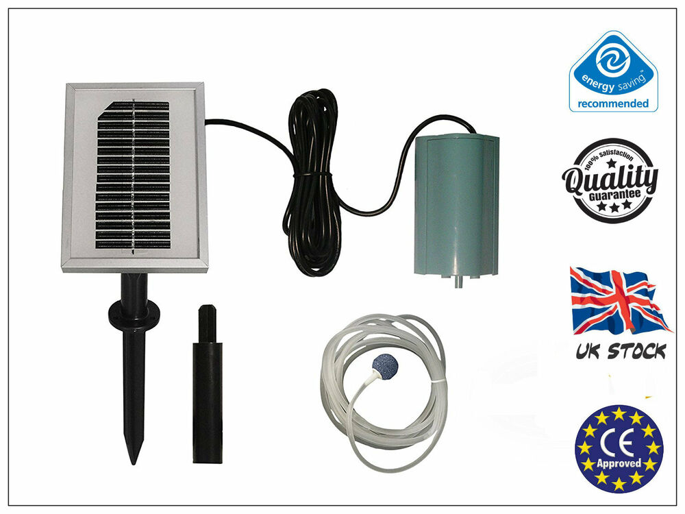 120l h solar powered oxygenator pond water oxygen pump 1 for Solar water filter for ponds