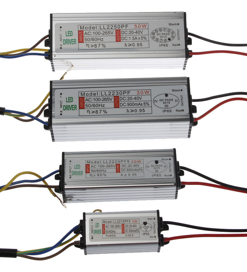 50w Led Driver Power Supply: 20W/30W/50W Waterproof IP65 High Supply Power DC LED