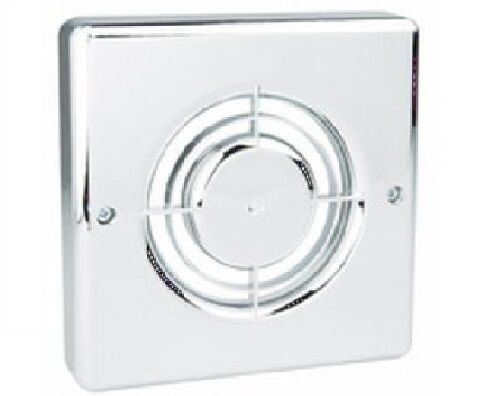 Chrome Bathroom Extractor Fan Cover : Manrose fc c chrome cover accessory for xf range inc