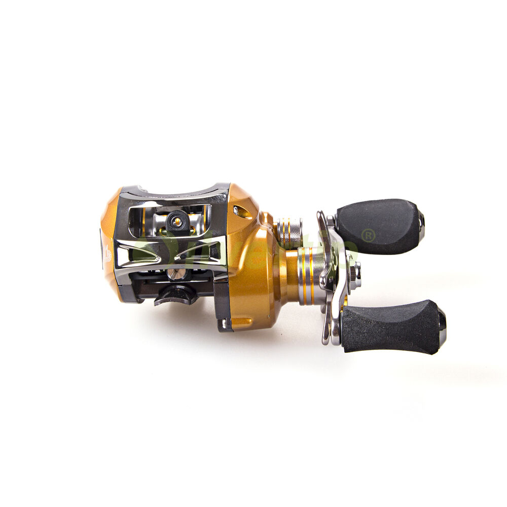 11 bb 6 3 1 left hand baitcasting fishing reel bait for Left handed fishing reels
