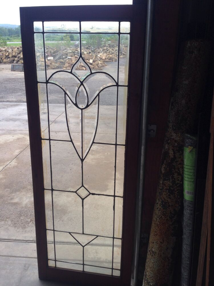 Old Leaded Glass Windows : Antique beveled and flat glass window sg ebay