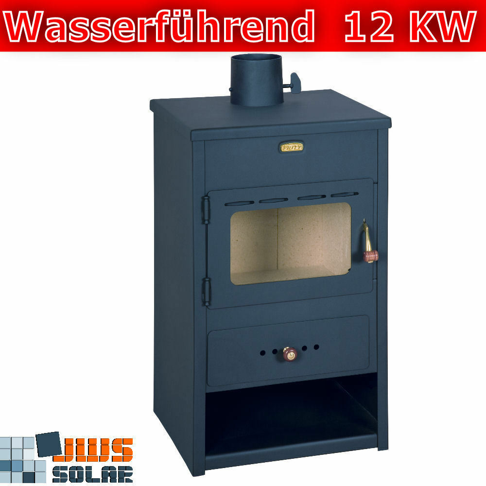 kamin wasserf hrend kaminofen prity k1 w8 12kw ofen mit wassertasche wasserkamin ebay. Black Bedroom Furniture Sets. Home Design Ideas