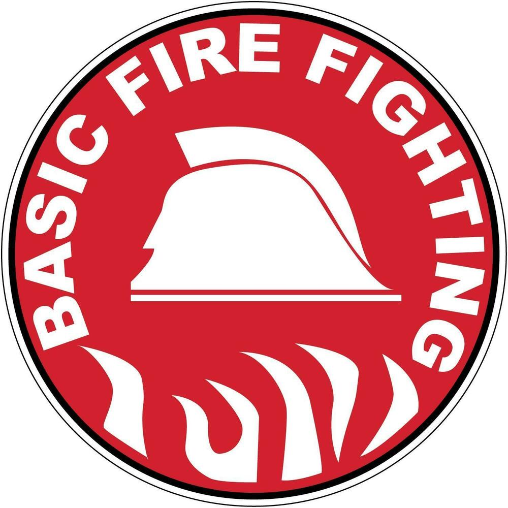 Hard Hat Basic Fire Fighting Sticker Sign Decal 50mm Public Safety