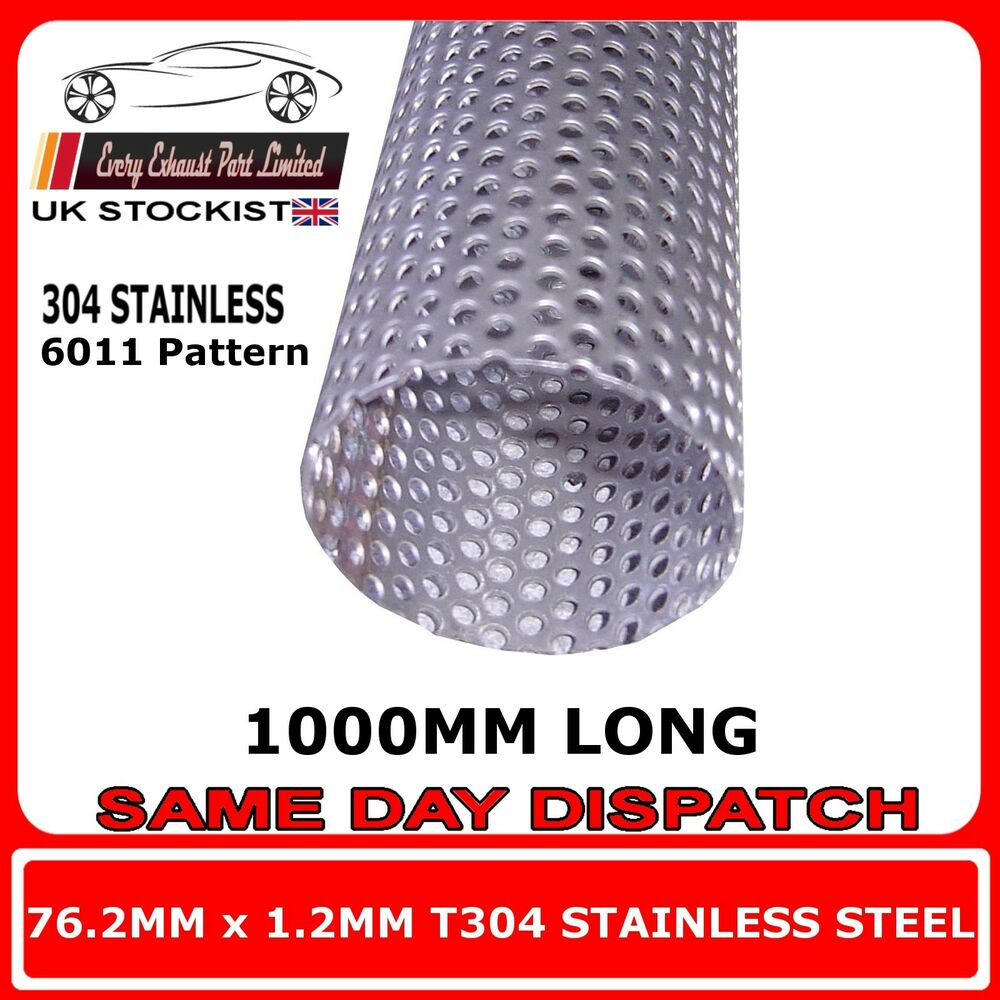 76mm 3 Quot X 40 Quot 1000mm Exhaust Repair Pipe Perforated Tube