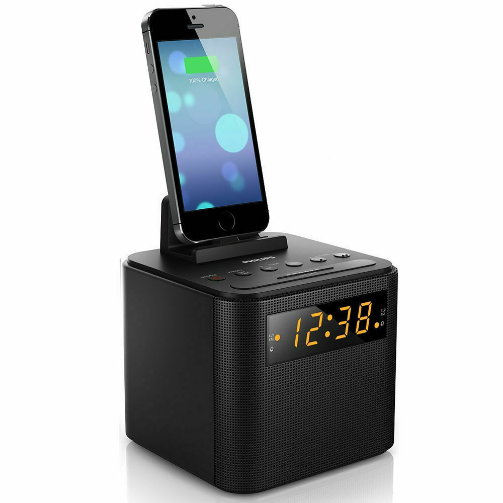philips aj3200 fm radio usb charger docking station for micro galaxy iphone ebay. Black Bedroom Furniture Sets. Home Design Ideas