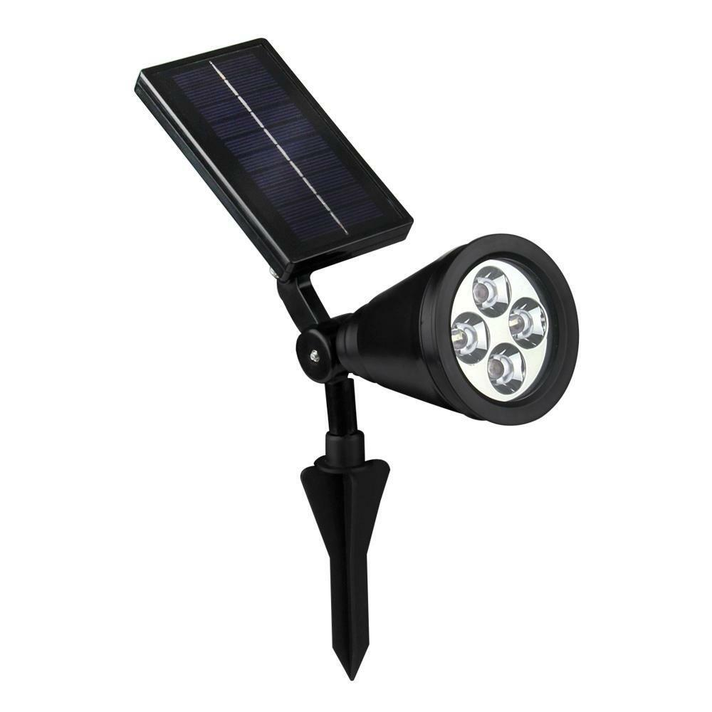 bright solar spot light outdoor garden lawn landscape led spotlight path lamp ebay. Black Bedroom Furniture Sets. Home Design Ideas