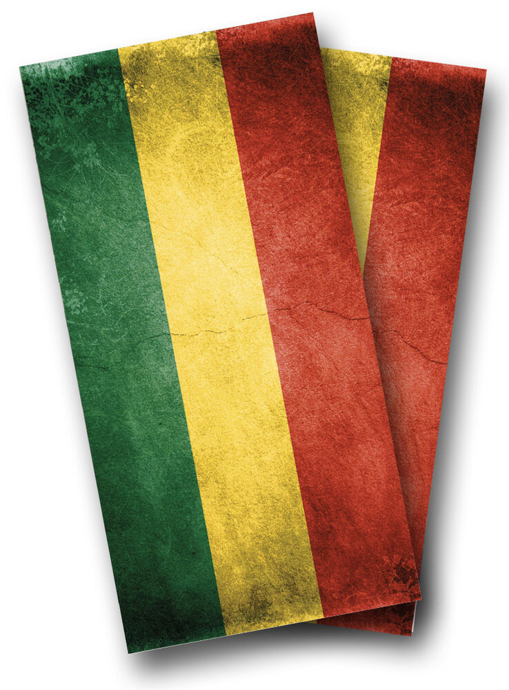 Rasta Flag Cornhole Wraps Boards Set Bean Bag Toss 8 Aca