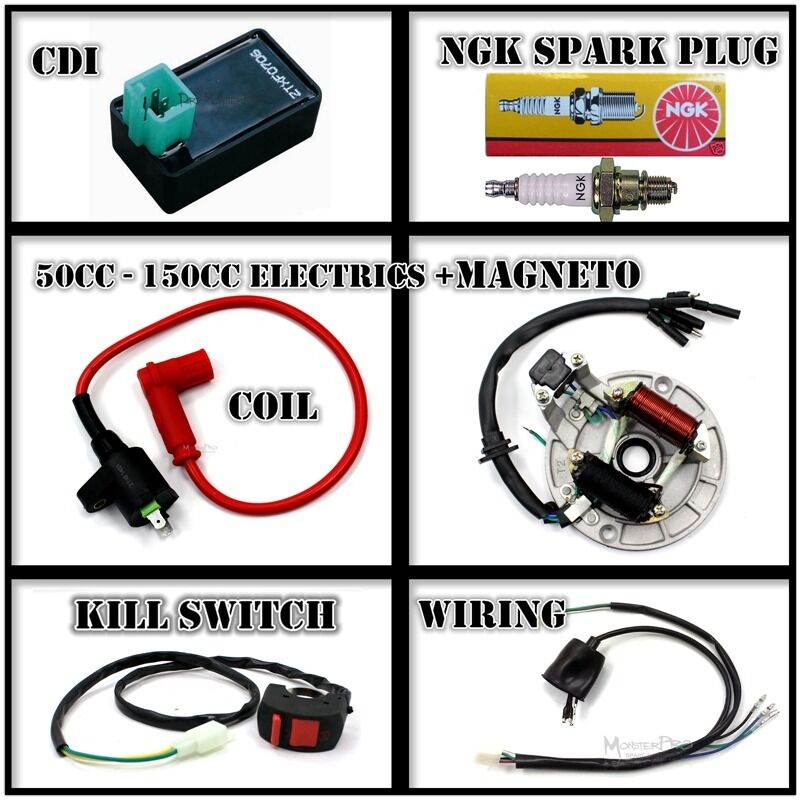 all electrics 50 110cc 125cc 140 wire harness cdi coil dirt bike all electrics 50 110cc 125cc 140 wire harness cdi coil dirt bike stator magneto