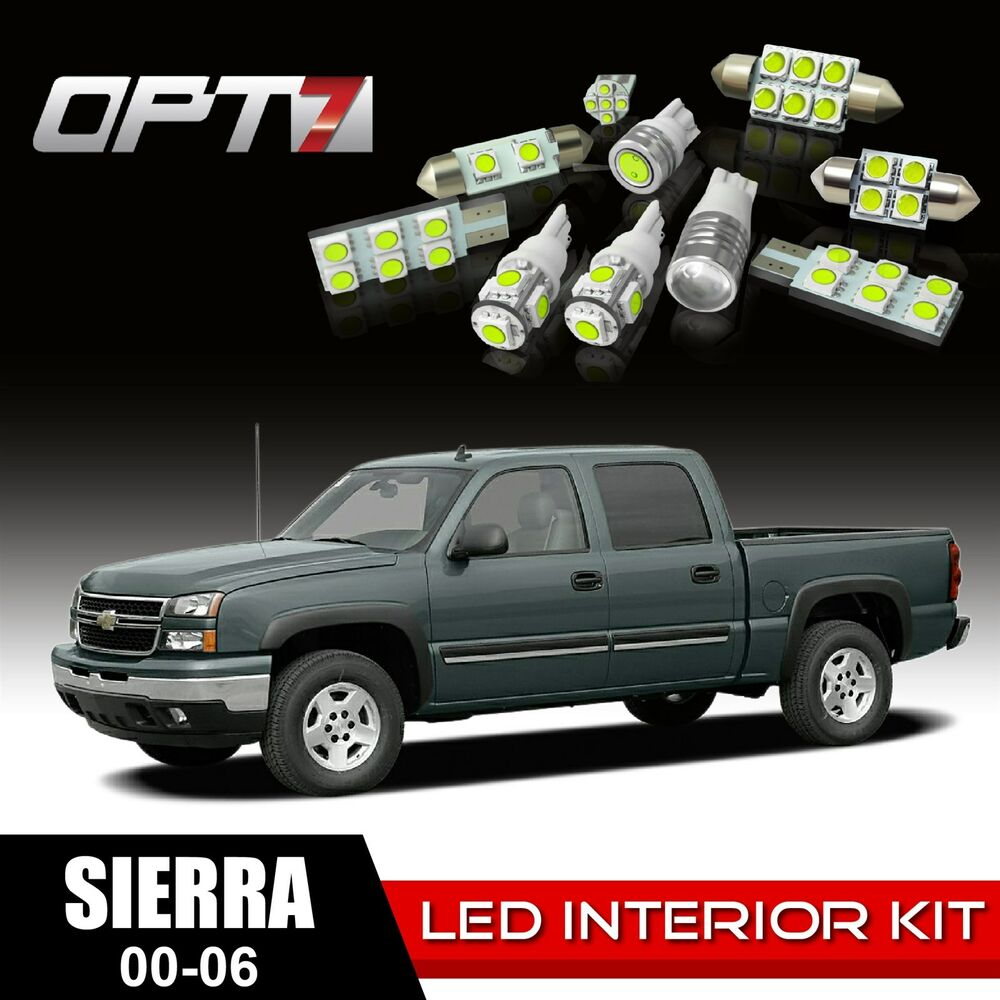 10x Blue Interior Led Lights Replacement Package Kit Fit: OPT7 16pc Interior LED Light Bulbs Package Kit For 00-06