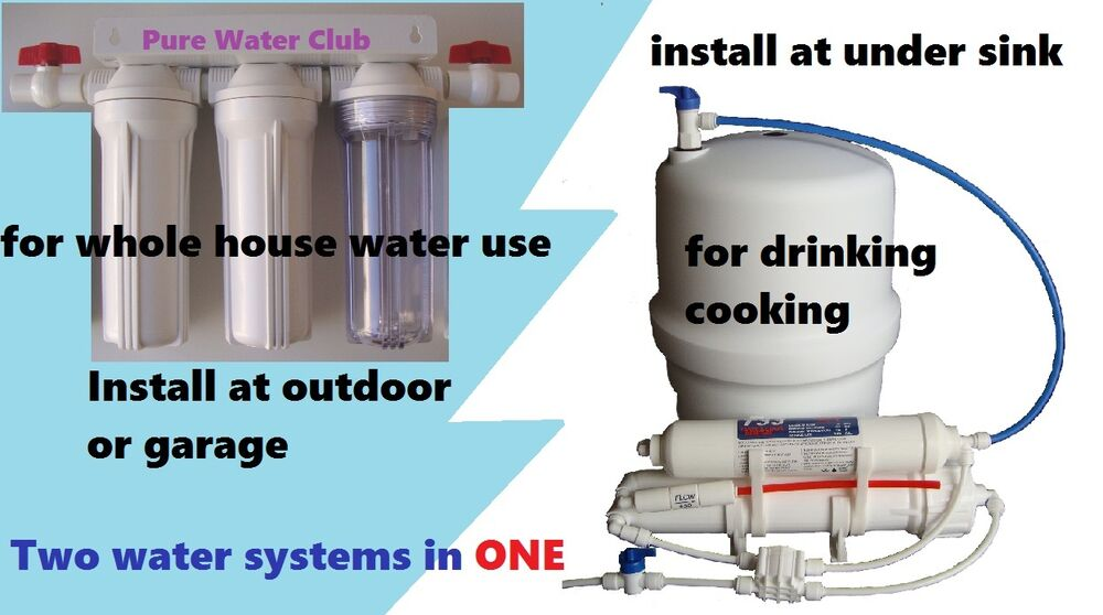 Hybrid in outdoor whole house reverse osmosis system ro for Garden water filter system