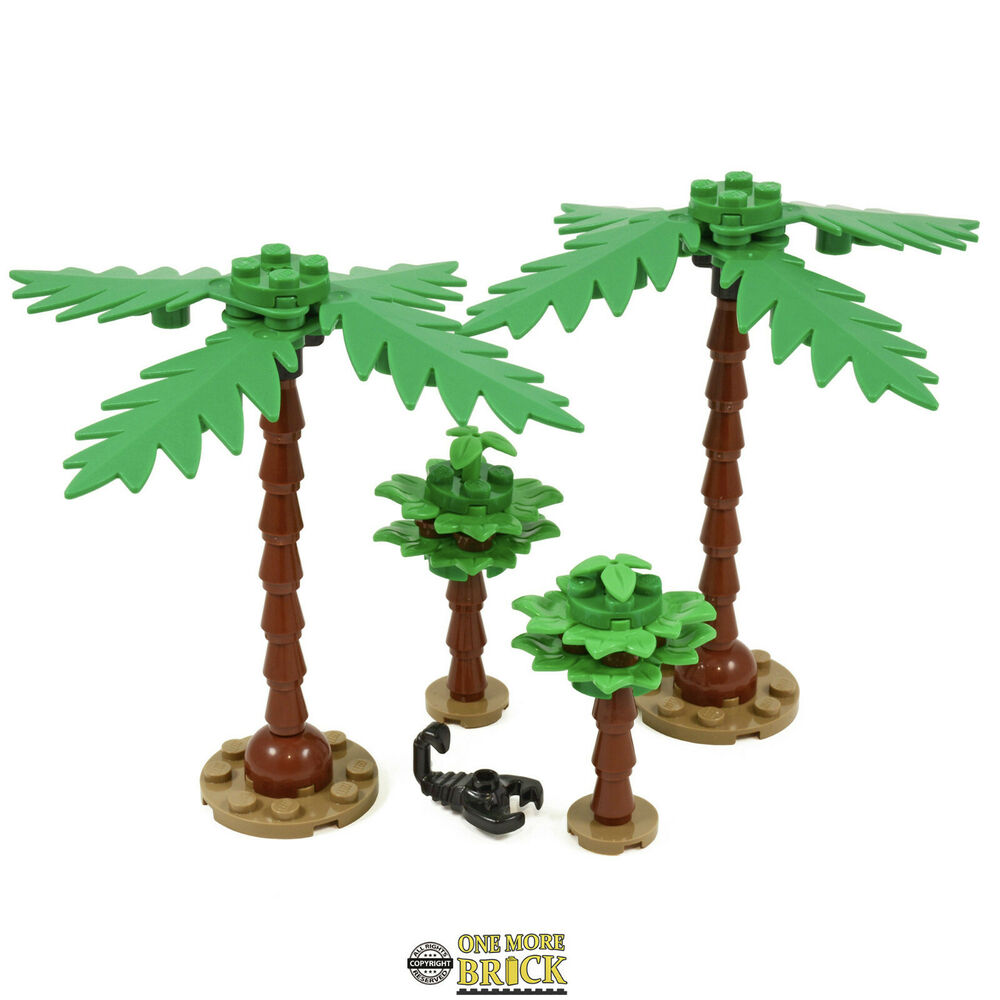Lego Palm Trees Pack Of Four Trees 2 Small And 2 Large