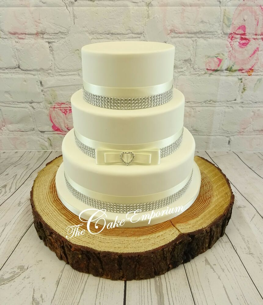Satin Ribbon Cake Toppers