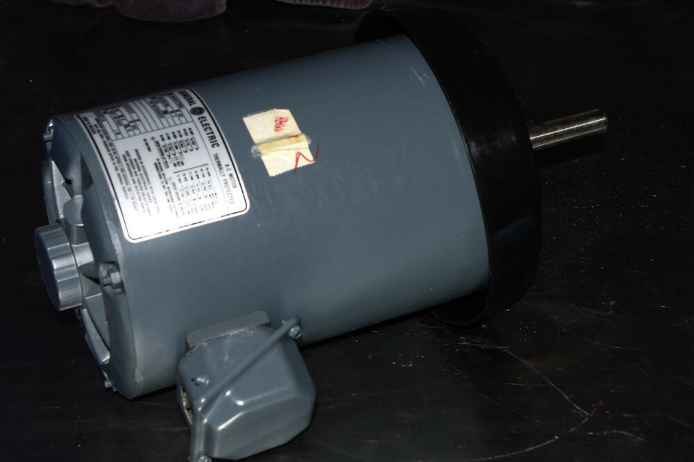 Ge ac electric motor 1 hp phase 3 1140 rpm 230 460 vac for 1hp single phase electric motor