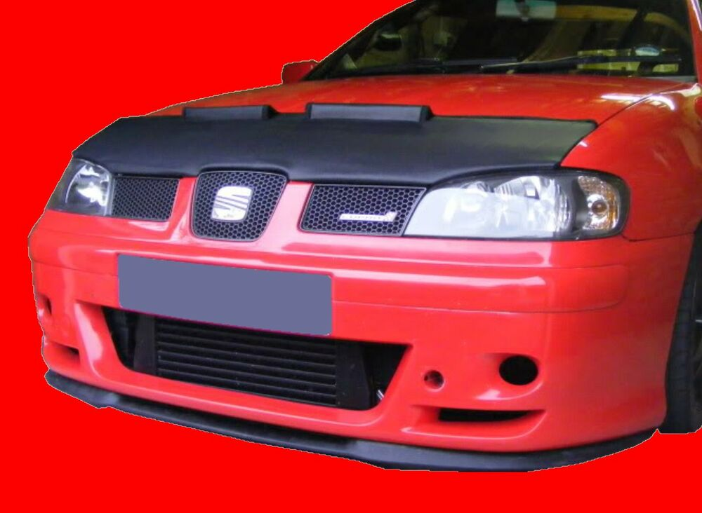seat ibiza 6k2 1999 2002 custom car hood bra nose front. Black Bedroom Furniture Sets. Home Design Ideas