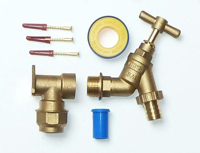 Mm mdpe outside tap kit with inch and brass