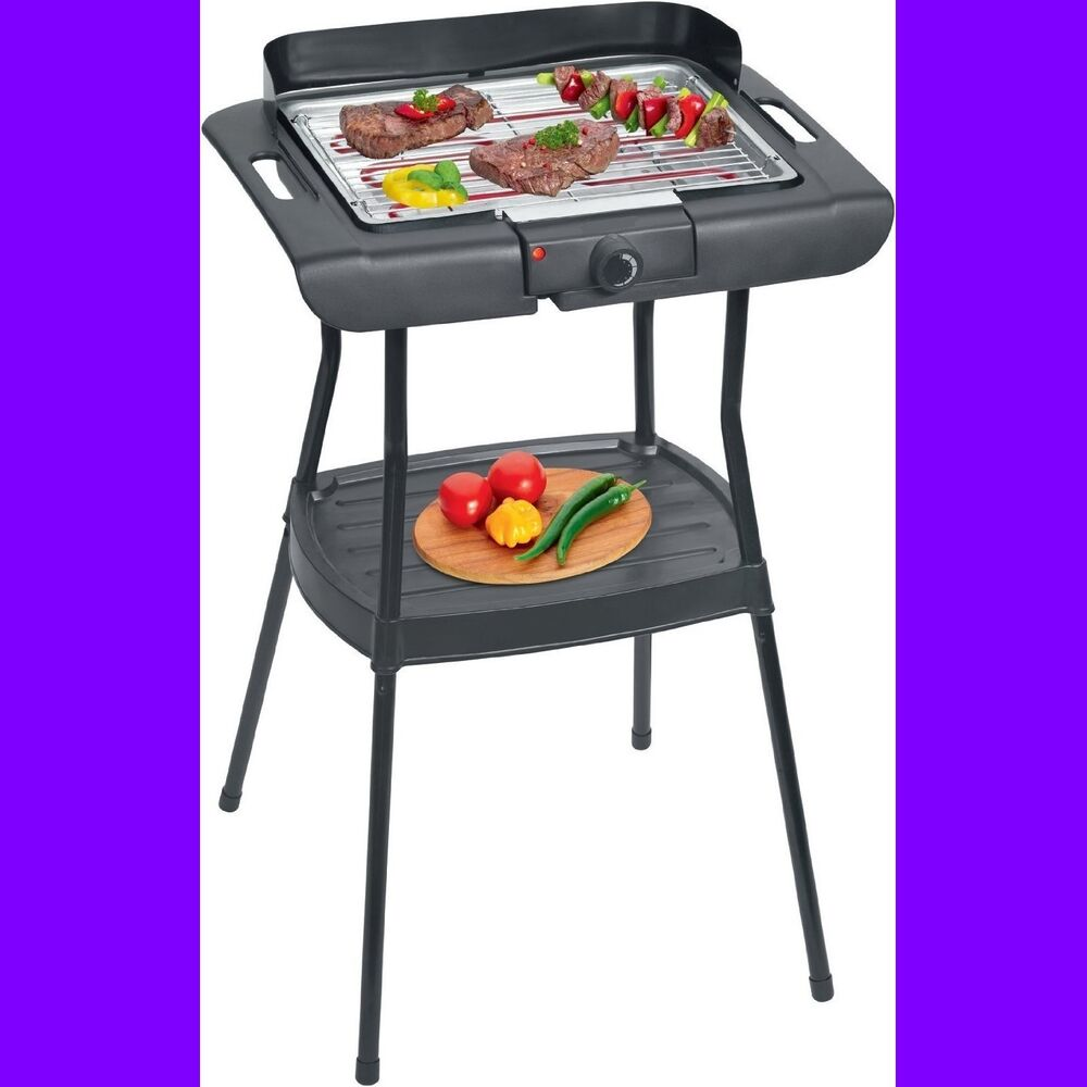 parrilla electrica barbacoa con patas plancha grill de cocina sin grasa 2000w ebay. Black Bedroom Furniture Sets. Home Design Ideas
