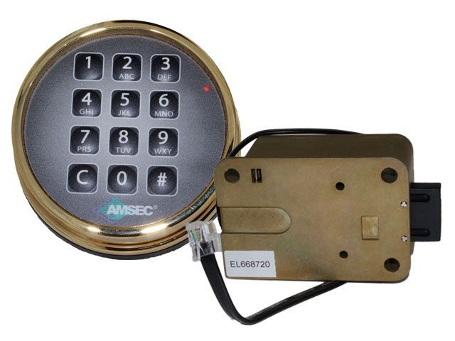 amsec esl10xl brass digital safe lock replace s g 6120 lagard basic. Black Bedroom Furniture Sets. Home Design Ideas