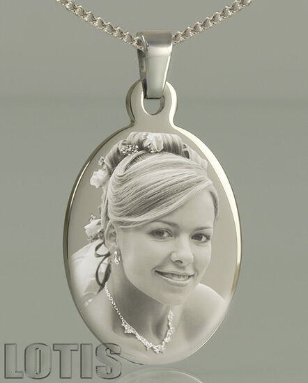 personalised photo engraved oval pendant your photo
