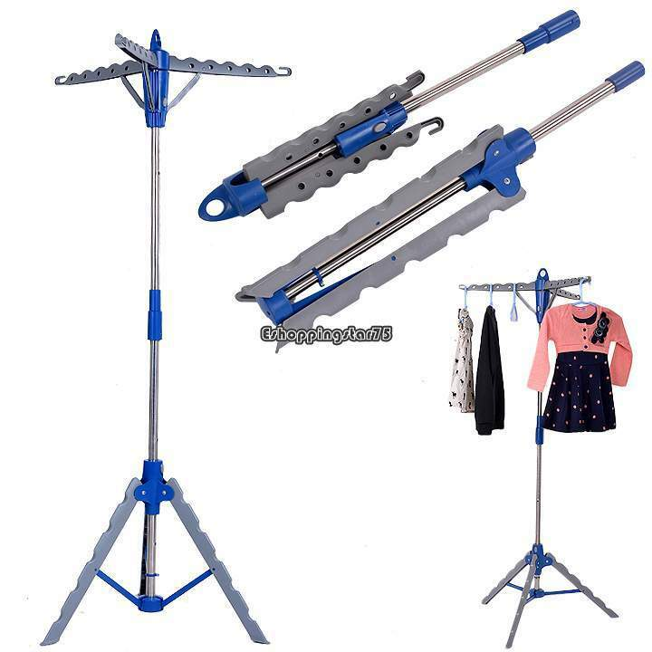 collapsible clothes dryer folding tripod drying rack. Black Bedroom Furniture Sets. Home Design Ideas