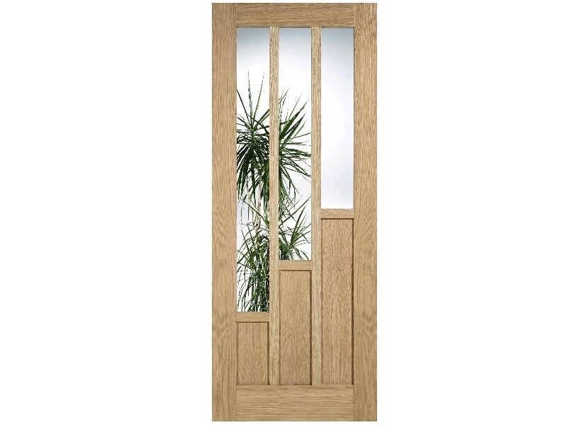 Glazed Oak Coventry 6 Panel Unfinished Door Various Sizes