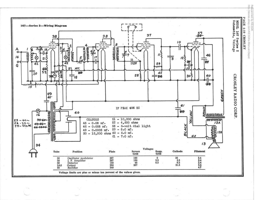 Riders Tube Radio Schematic   Single Schematic Printing