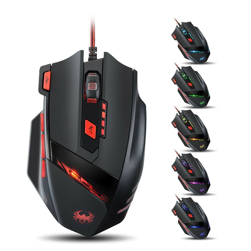 wired 8000 dpi precision gaming mouse mice for alienware laptop pc win 8 mac os ebay. Black Bedroom Furniture Sets. Home Design Ideas