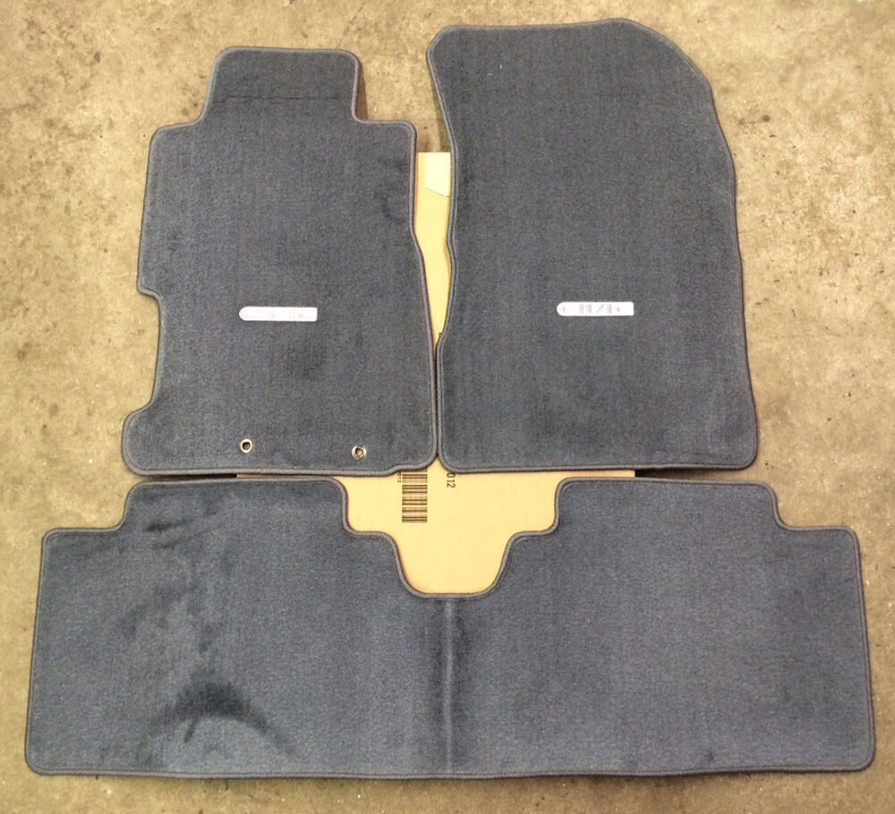 Genuine Oem Honda Civic 4dr Sedan Gray Carpeted Floor Mats