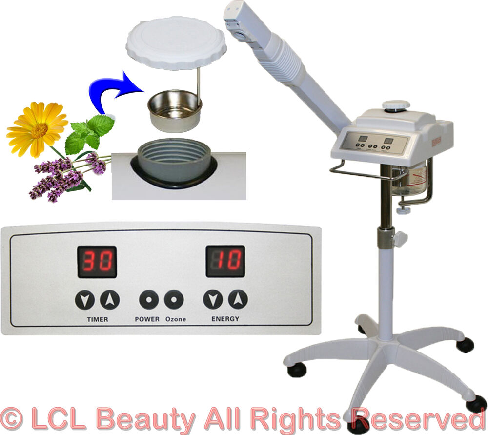 New Digital Aromatherapy Herbal Ozone Facial Steamer Spa