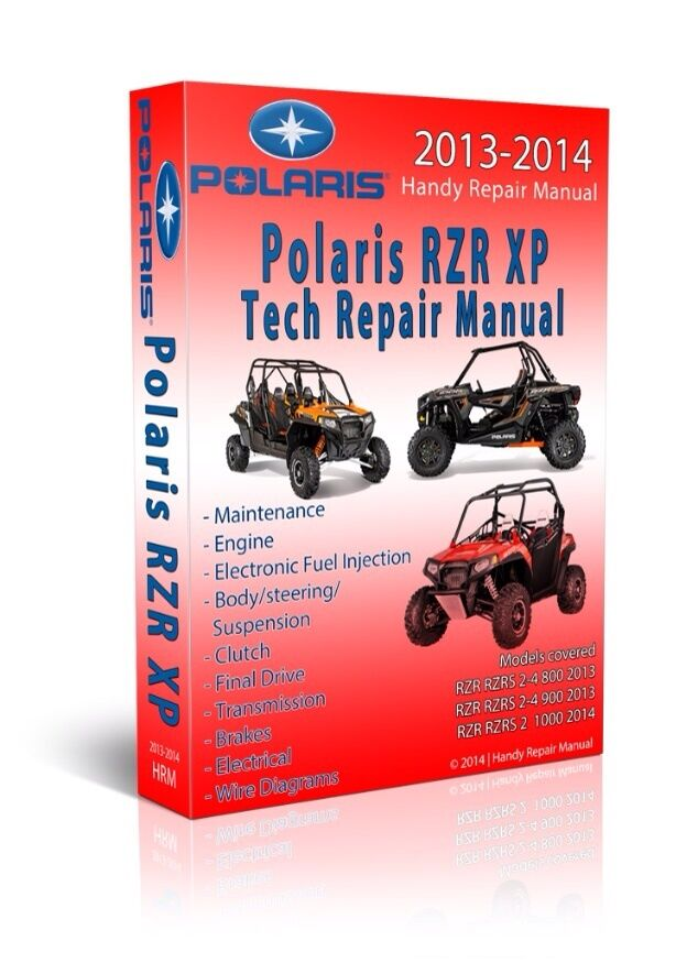 2013 Polaris Rzr Rzrs Xp 4 800 900 Service Manual Cd Only