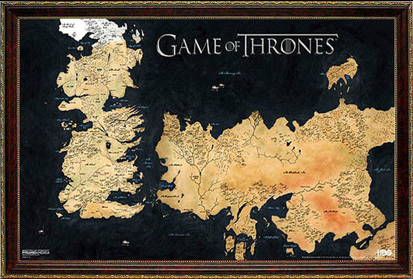 game of thrones map poster - photo #5