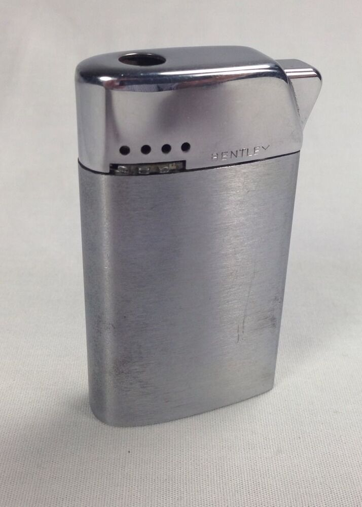 Bentley Butane Gas Lighter Vintage From Austria Chrome Silver Vtg With Spark Ebay