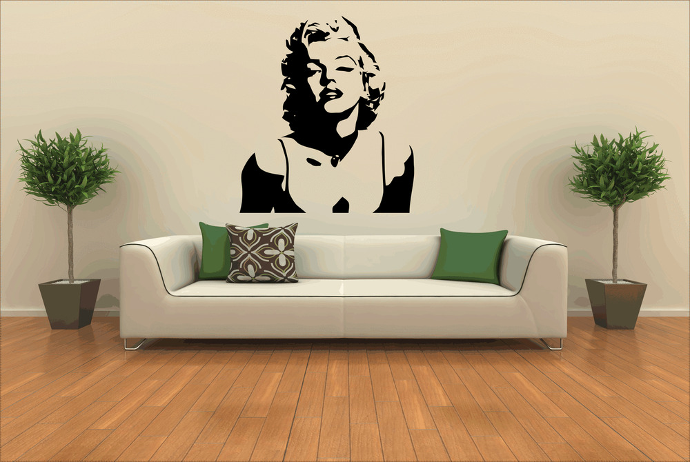 Marilyn Monroe Wall Sticker Decals Bedroom Lounge Graphics Large Transfer Ebay