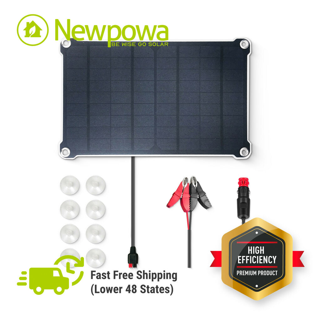 10w 12v solar battery trickle charging kits camping rv for 12v garage door opener