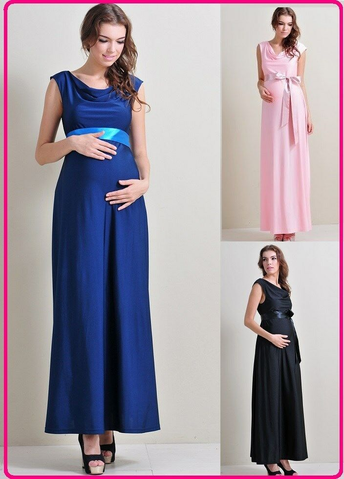 Maternity evening gowns dressesbabyshower wedding bridal for Maternity maxi dress for wedding