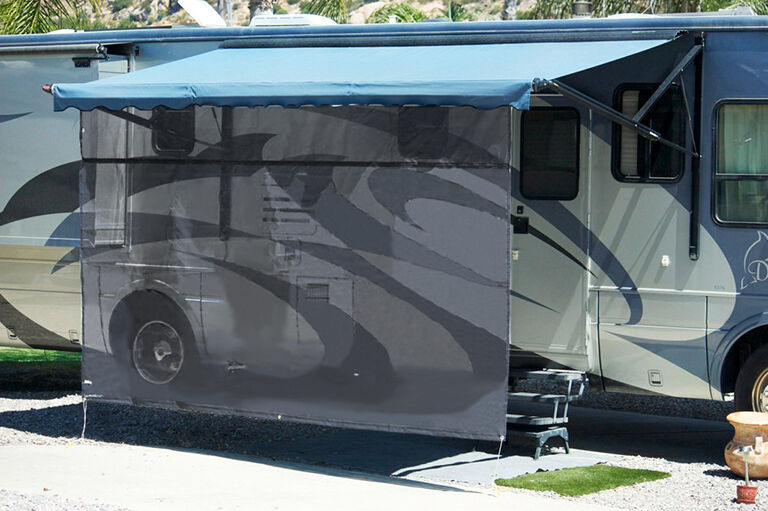 19 X 6 Jade Rv Awning Shade Drop W Zipper For 12v