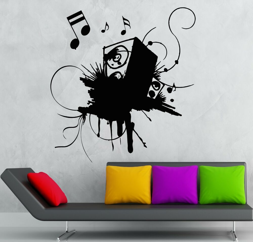 Wall Sticker Vinyl Decal Sound Music Night Club Party Speaker Ig2284 Ebay
