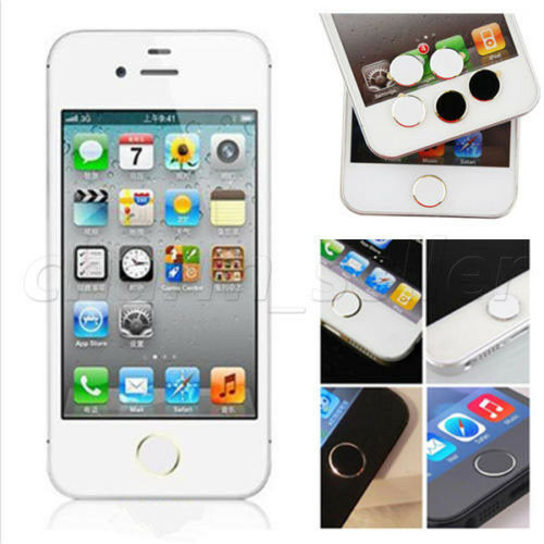 iphone button stickers 1pcs home button sticker for apple iphone 4s 5 5s new 11667