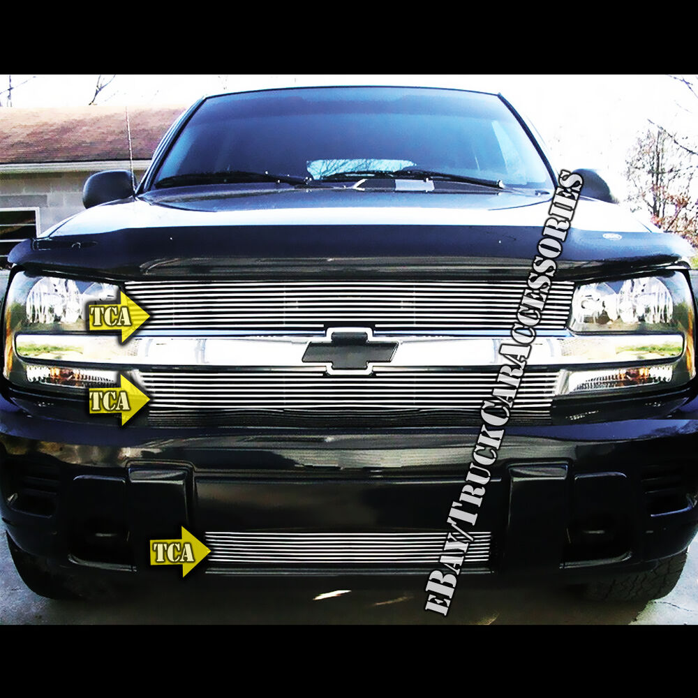 For 2002-2005 Chevy Trailblazer LT LS SS Grille Combo