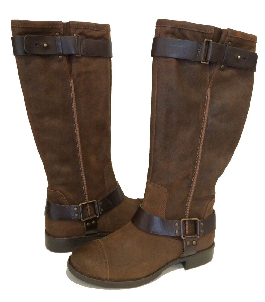 ugg dree boots brown leather buckle us 9 eur 40 uk