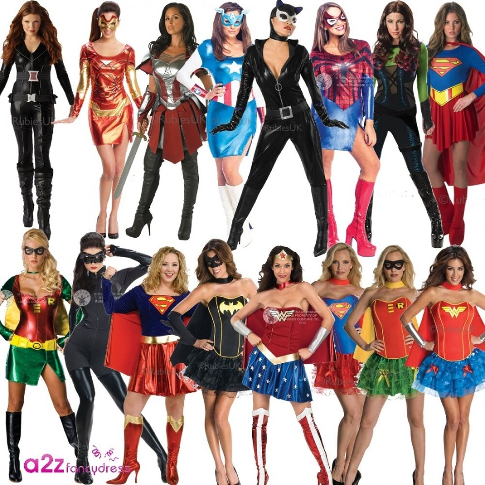 Ladies Sexy Superhero Superheroes Adult Licensed Fancy -7119